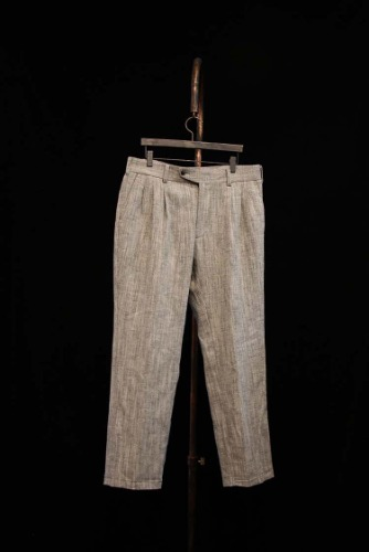 Linen herringbone Pants